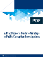 A Pracititioner's Guide to Wiretaps in Public Corruption Investigations 7.25.2016