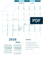 aug 2016 calendar general