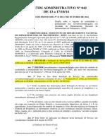 Instrucao de Servico Dg n 11, De 13 de Outubro de 2014