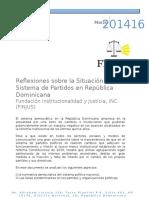Reflexiones Sobre El Sistema de Partidos en RD