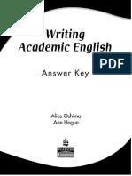 Writing Academic English key