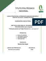 Metodología de desarrollo de proveedores