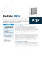 Synology DS213j Data Sheet Enu