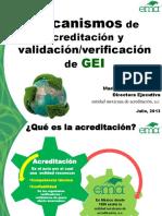 3 Mecanismos de Acreditacion y Verificacion ValidacionGEI 2013