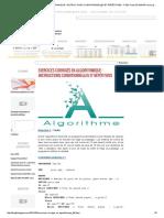 Exercices Corrigés en Algorithmique _ Instructions Conditionnelles Et Répétitives - Fseg Tunis El Manar Cours Gratuits de Comptabilité Partage Gratuit de Cours