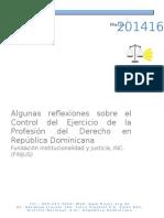 Reflexiones Sobre El Control Del Ejercicio de La Profesión Del Derecho