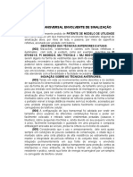 Pedido de Patente Para Laço Transversal Final