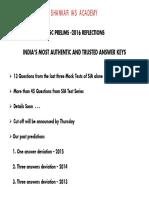 UPSC CSE 2016 Solution
