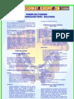 PRIMER MILITARISMO CONFEDERACIÓN PERÚ - BOLIVIANA