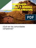 Comunidades CamXpesinas y Mineria en La Región Arequipa