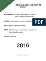 Definiciones de Comportamiento Organizacional Por Varios Autores