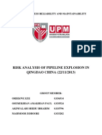 Risk Analysis for the Pipeline Explosion in Qingdao