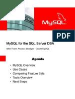Mysql for the SQL Server DBA 5132010