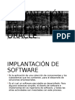 Implantación de Aplicaciones Oracle