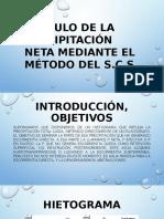 Calculo de La Precipitación Neta Mediante El Método
