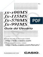 MANUAL Calculadora Científica - Fx100MS 115MS 570MS 991MS PT