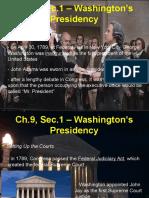 ch 9 sec 1 washingtons presidency   ppt