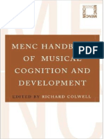 MENC Handbook of Musical Cognition and Develop