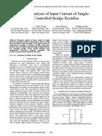 Harmonic Analysis of Input Current of Single-Phase Controlled Bridge