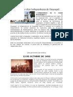 9 de Octubre de 1830 Independencia de Guayaquil