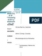 Práctica 12 -Vibrio-Alimentos i
