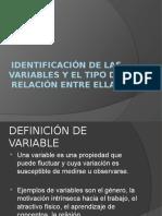 3.- Identificación de Las Variables y El Tipo de Relación