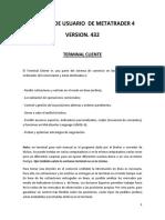 Manual de Usuario de Metatrader 4 Version 432