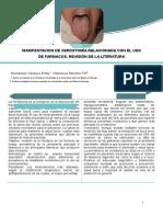 Manifestacion de Xerostomía Relacionada Con El Uso de Farmacos