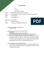Contoh Draft Surat Rekomendasi