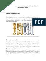 Diámetros Estandarizados de Tornillos