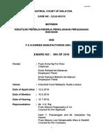 Malaysian Law 98286 AWARD 23622