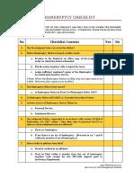 Bankruptcy Checklist