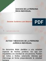 ACTOS Y NEGOCIOS DE LA PERSONA JURÍDICA INDIVIDUAL (1)