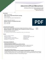 updated resume for porfolio
