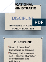 Educational Administration Discipline