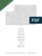 Sopas de Letras en Frances