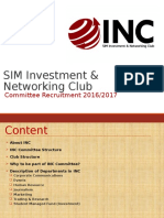 SIM INC Committee Recruitment Slides 2016