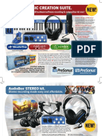 AudioBox Stereo-Music Creation Suite Flyer