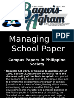 Managing the School Paper