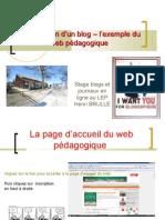 stage blogs et journaux en ligne construction d'un blog