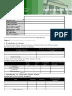 Fundraising Activity Report