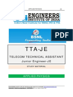BSNL TTA Applied Physics