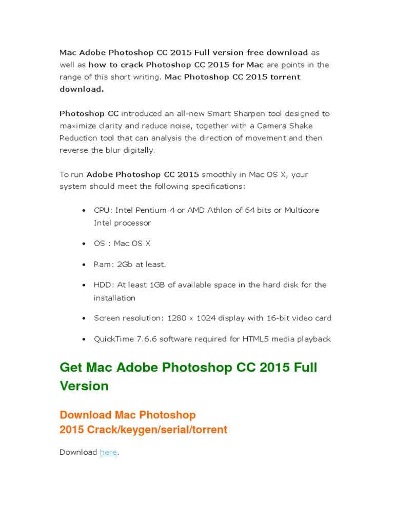 photoshop cc 2015 mac скачать торрент
