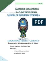 Informe Método Númerico de Halley