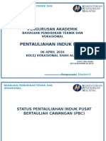 PENTAULIAHAN INDUK PERSIJILAN KEMAHIRAN MALAYSIA BPTV KPM