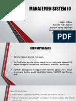 [Kelompok 3 Pti b 2013 ] Manajemen Sistem Io