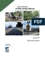 City of Tacoma Right-of-Way Design Manual