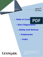 Lexmark Medley 4012-0XX Service Manual