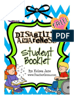 Disability Awareness Student Booklet Free