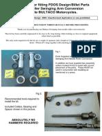 Bultaco Swingarm Needle Roller Conversion Installation Guide R1